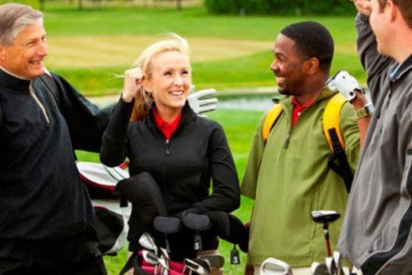 Mixed golf group